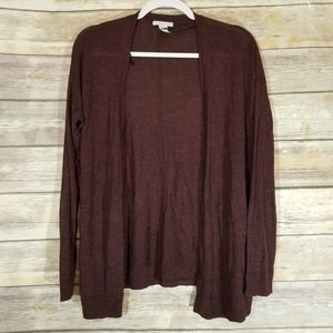 H&M Basic Maroon Open Cardigan
